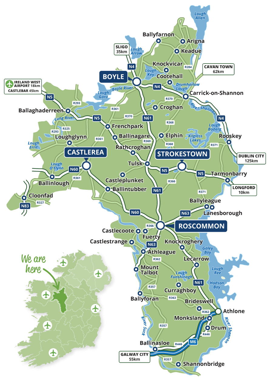 Map of Roscommon